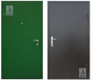 металлические двери с полимерном покрытием