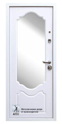 Металлическая дверь в квартиру с зеркалом ДМГ-205