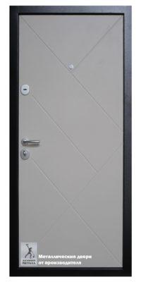 Обратная сторона двери металлической ДМГ-214