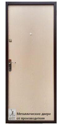 Обратная сторона с полимером и ЛДВП дверь в квартиру ДМС-100