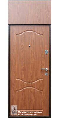 Внутреняя сторона двери в квартиру ДМС-165 со вставкой сверху