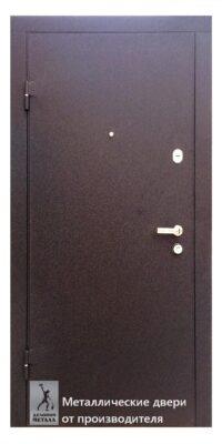 Дверь металлическаяв квартиру ДМС-401 из толстого листа металла