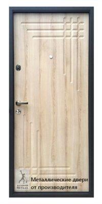 Обратная сторона двери металлической ДМС-401