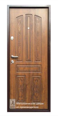 Обратная сторона двери металлической ДМС-501