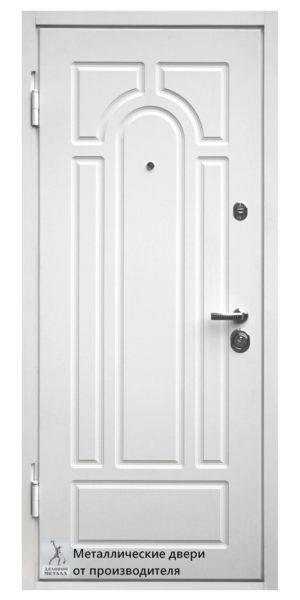 Металлическая дверь с фрезеровкой
