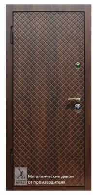 Металлическая дверь в квартиру ДМС-507 с индивидуальной фрезеровкой