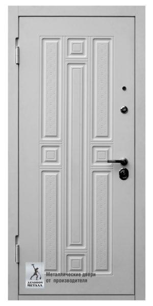 Белая металлическая дверь ДМС-509 с МДФ панелями