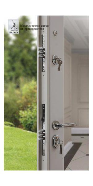 Замки в двери металлической с зеркалом и фрезеровкой ДМС-509