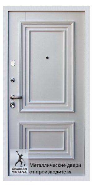 Белая внутренняя сторона двери ДМС-704 с фрезеровкой