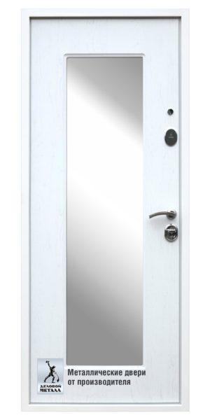 Обратная сторона двери ДМС-706 с встроенным зеркалом