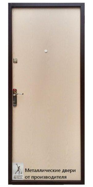 Обратная сторона входной металлической двери в квартиру Старт из ЛДВП