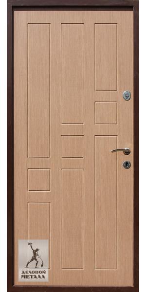 Внутренняя сторона металлической входной двери Арт. Г-56