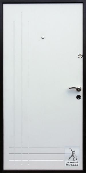 Фото внутренней стороны металлической двери Арт. П-74