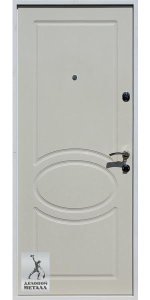 Белая металлическая дверь Ф2 - вид внутренней стороны