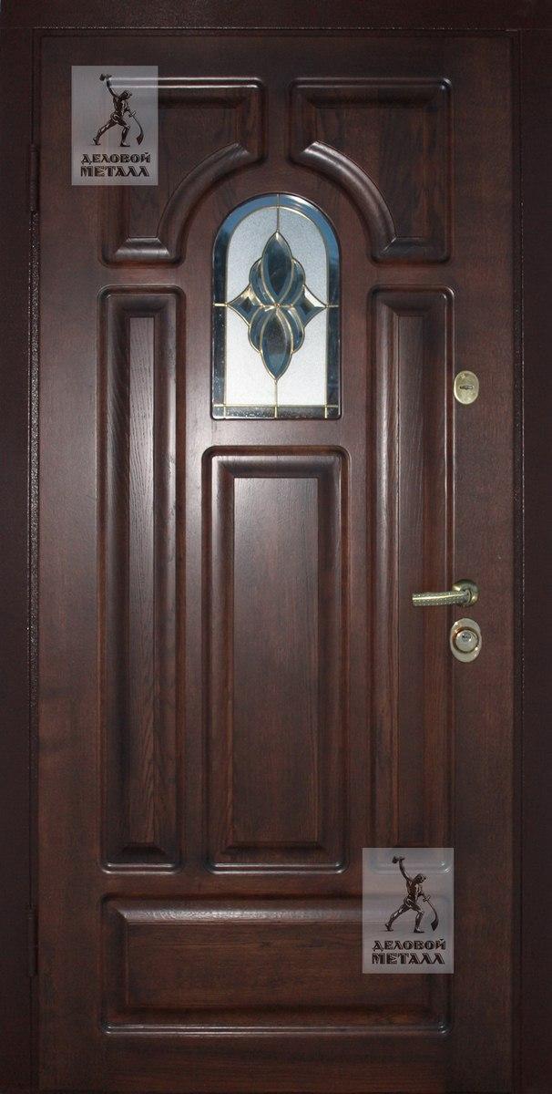 Дверь с дубовой накладкой