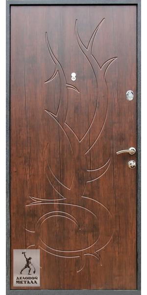 Фото металлической входной двери Арт. Р-41 - внутренняя сторона